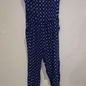 Strapless boho blue jumper
